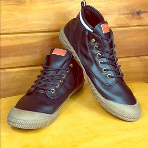 Volley Shoes - Volley 🔹 Men's High Leap Leather Sneaker Shoes 12